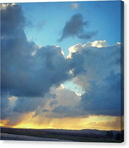 Rainclouds Canvas Print - #rain  Near Rhyl. .. #clouds #sky by Alexandra Cook
