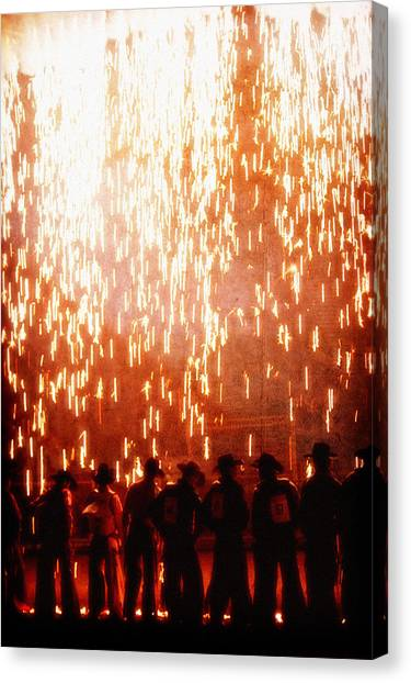 Rain Of Fire Canvas Print