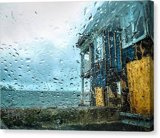 Rain On Rowing Club House Canvas Print