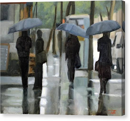 Rain On Saint Germain Canvas Print