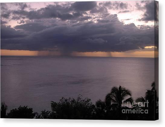 Rain On The Ocean Canvas Print