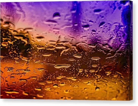 Rain On Windshield Canvas Print