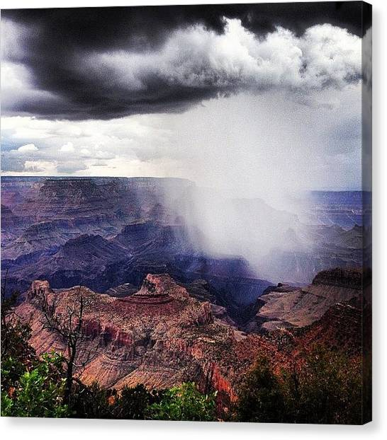 Grand Canyon Canvas Print - Rain Over The Grand Canyon by Lisa Lamphere