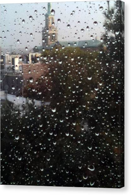 Rain Ride On Subway Canvas Print