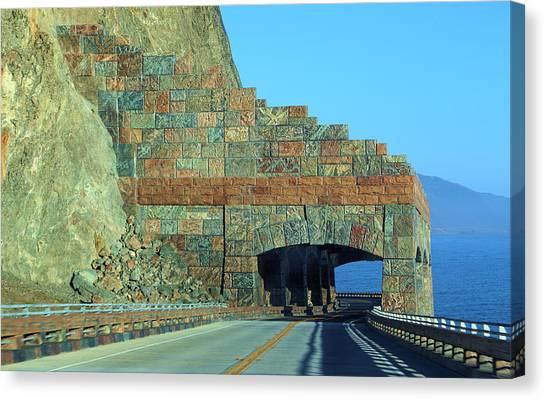 Rain Rocks Rock Shed Canvas Print by Viktor Savchenko