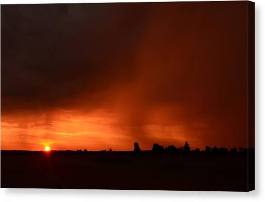 Rain Squall Sunrise Canvas Print