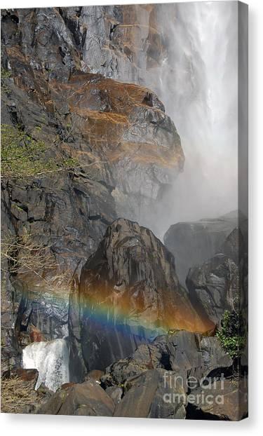 Rainbow And Mist Canvas Print