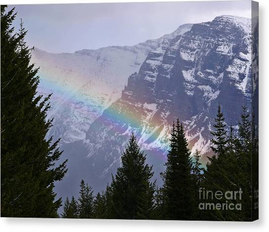 Rainbow At Glacier National Park Canvas Print