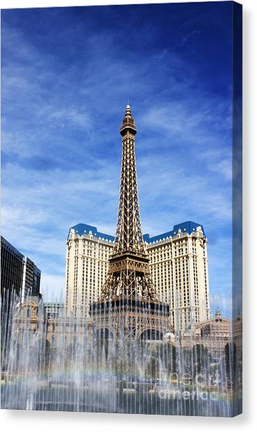 Rainbow At Paris Canvas Print