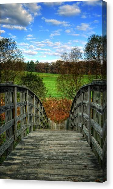 Rainbow Bridge Brasstown Nc Canvas Print