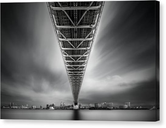Rainbow Canvas Print - Rainbow Bridge Profile by Dr. Akira Takaue