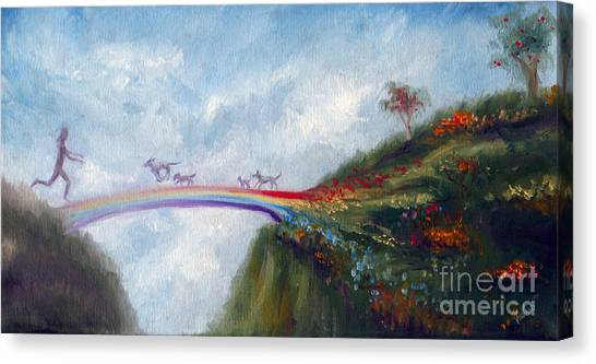 Heaven Canvas Print - Rainbow Bridge by Stella Violano