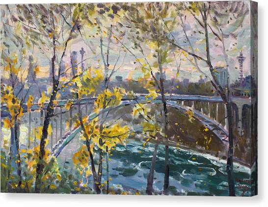 Ontario Canvas Print - Rainbow Bridge by Ylli Haruni