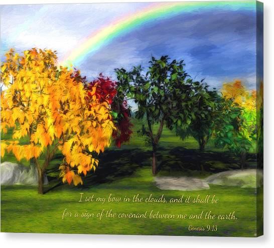 Rainbow Covenant Genesis Canvas Print