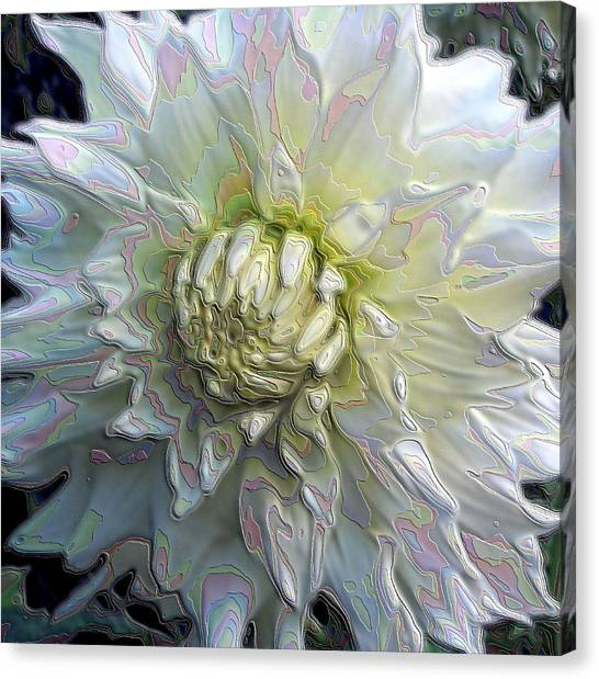 Rainbow Dahlia Canvas Print