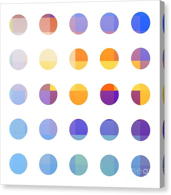 Minimalism Canvas Print - Rainbow Dots  by Pixel Chimp