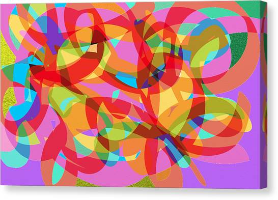 Rainbow Explosion Canvas Print