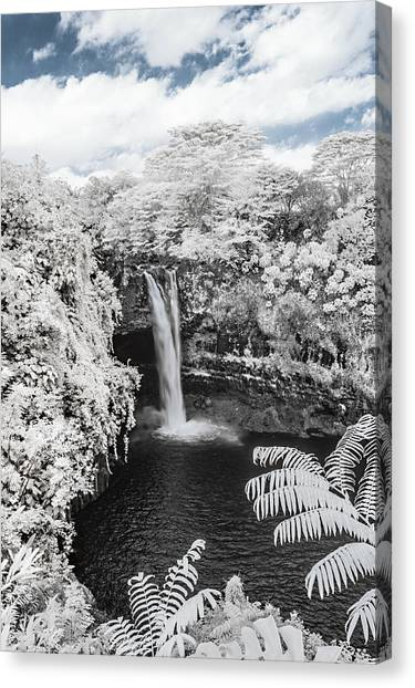 Rainbow Falls In Infrared 1 Canvas Print
