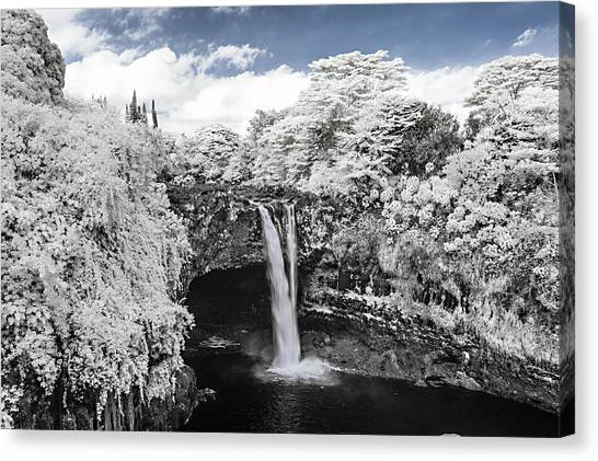Rainbow Falls In Infrared 2 Canvas Print