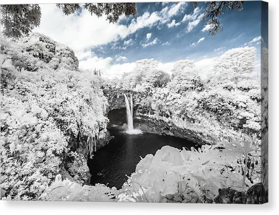 Rainbow Falls In Infrared 3 Canvas Print