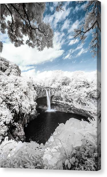 Rainbow Falls In Infrared 4 Canvas Print