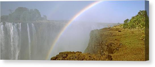 Victoria Falls Canvas Print - Rainbow Form In The Spray Created by Panoramic Images