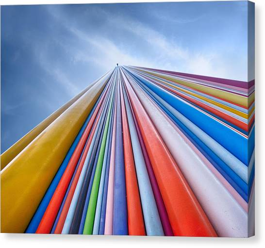 Rainbow Canvas Print - Rainbow From A Cloud by Nadav Jonas