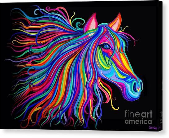 Rainbow Horse Too Canvas Print