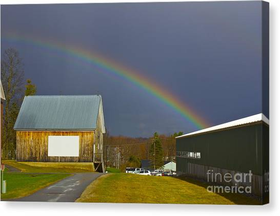 Rainbow In Maine Canvas Print