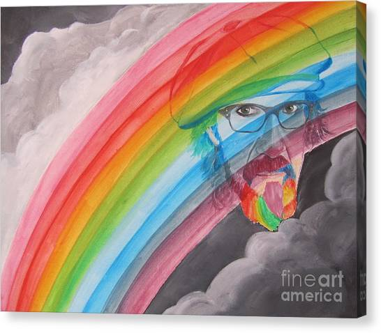 Rainbow Man Mark Hudson Canvas Print