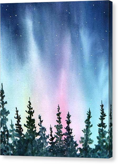 Rainbow Night Canvas Print