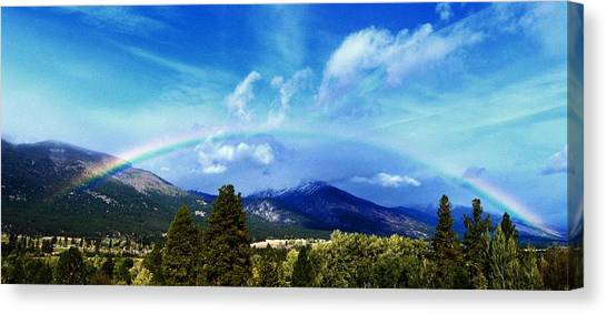 Rainbow Over Hamilton Montana Canvas Print