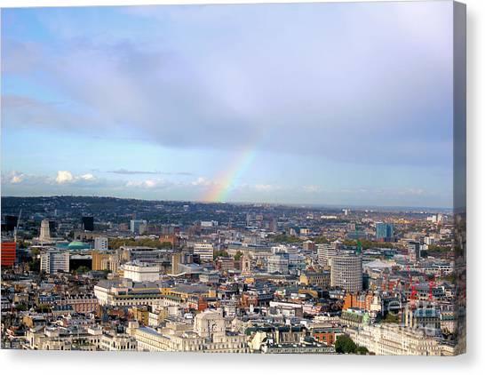 Rainbow Over London Canvas Print