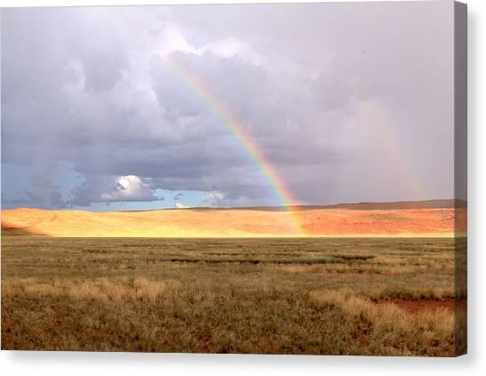 Rainbow Over Sossulvei Canvas Print