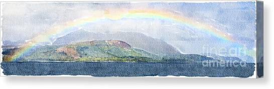 Rainbow Over The Isle Of Arran Canvas Print
