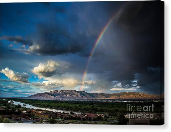 Rainbow Over The Sandias Canvas Print