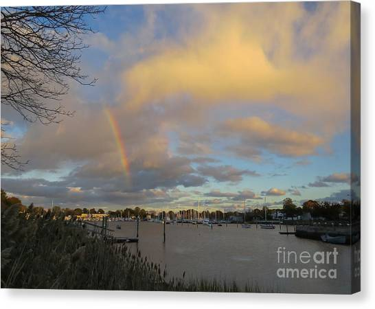 Rainbow Over Wickford Canvas Print