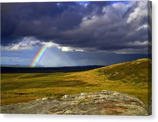 Rainbow Over Yorkshire Moors - Tann Hill Canvas Print