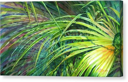 Rainbow Palms Canvas Print