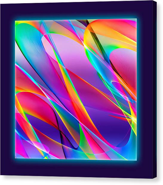 Rainbow Ribbons Canvas Print
