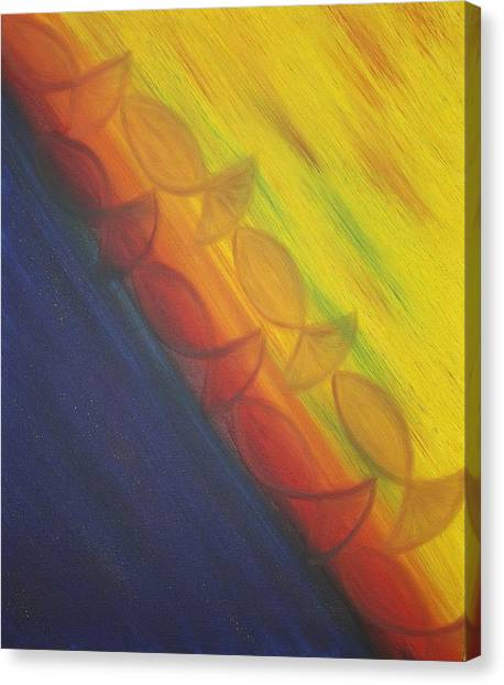 Rainbow Run Canvas Print