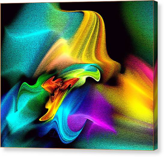Rainbow Splashes Canvas Print