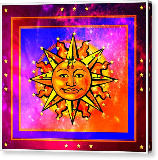 Rainbow Sun Canvas Print