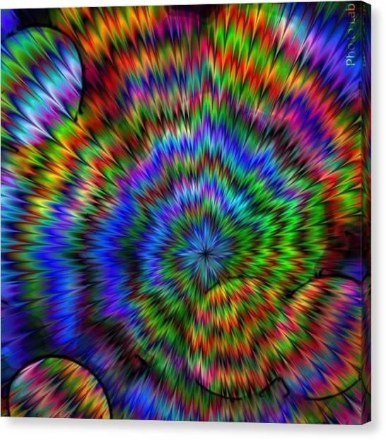 Rainbow Super Nova Canvas Print