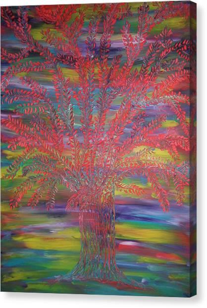 Rainbow Tree Canvas Print by Nico Bielow