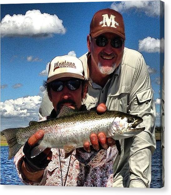 Trout Canvas Print - Rainbow Trout Caught On Henry's Fork by Mark Jackson