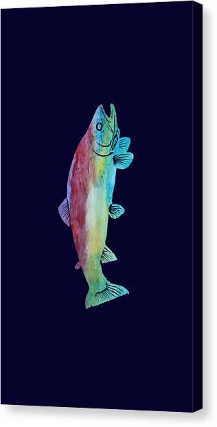 Jenny Lake Canvas Print - Rainbow Trout by Jenny Armitage