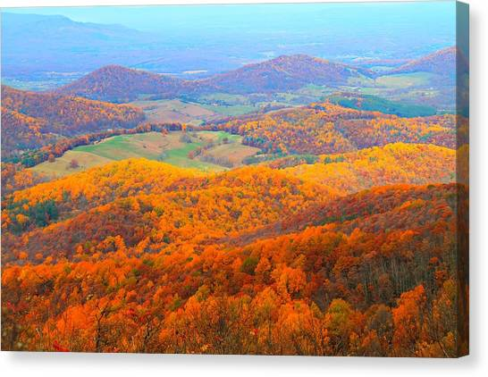 Canvas Print featuring the photograph Rainbow Valley by Candice Trimble