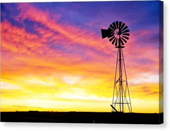 Rainbow Windmill Canvas Print