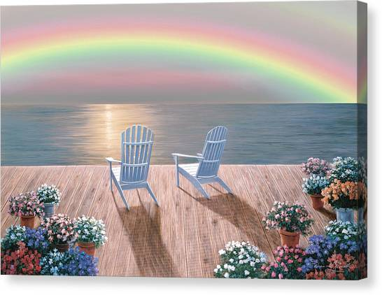 Rainbow Wishes Canvas Print